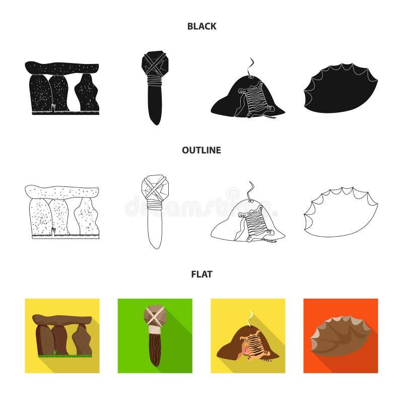 Ejemplo del vector del logotipo de la evolución y de la prehistoria Colección de símbolo común de la evolución y del desarrollo p libre illustration