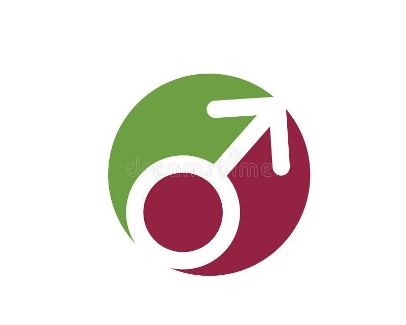 ejemplo del vector del logotipo del icono del género stock de ilustración