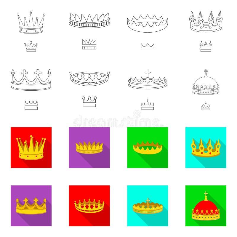 Ejemplo del vector del logotipo medieval y de la nobleza Colecci?n de icono medieval y de la monarqu?a del vector para la acci?n ilustración del vector