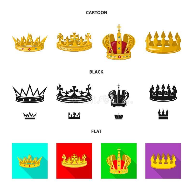 Ejemplo del vector del logotipo medieval y de la nobleza Colecci?n de s?mbolo com?n medieval y de la monarqu?a para la web libre illustration