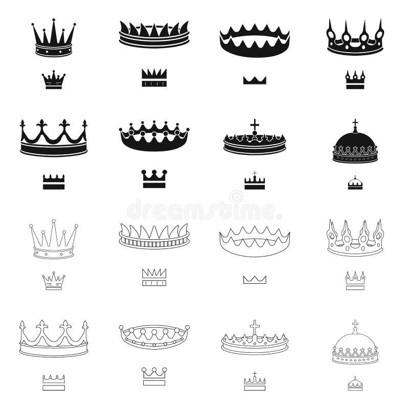 Ejemplo del vector del logotipo medieval y de la nobleza Colecci?n de s?mbolo com?n medieval y de la monarqu?a para la web stock de ilustración