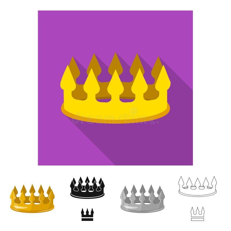 Ejemplo del vector del logotipo medieval y de la nobleza Fije del ejemplo com?n medieval y de la monarqu?a del vector stock de ilustración