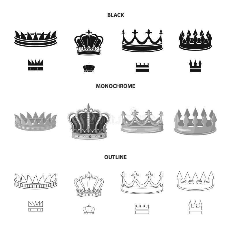 Ejemplo del vector del logotipo medieval y de la nobleza Fije del icono medieval y de la monarqu?a del vector para la acci?n ilustración del vector