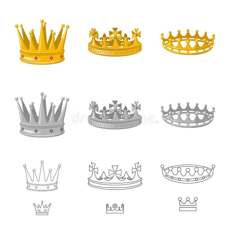 Ejemplo del vector del logotipo medieval y de la nobleza Fije del icono medieval y de la monarqu?a del vector para la acci?n libre illustration