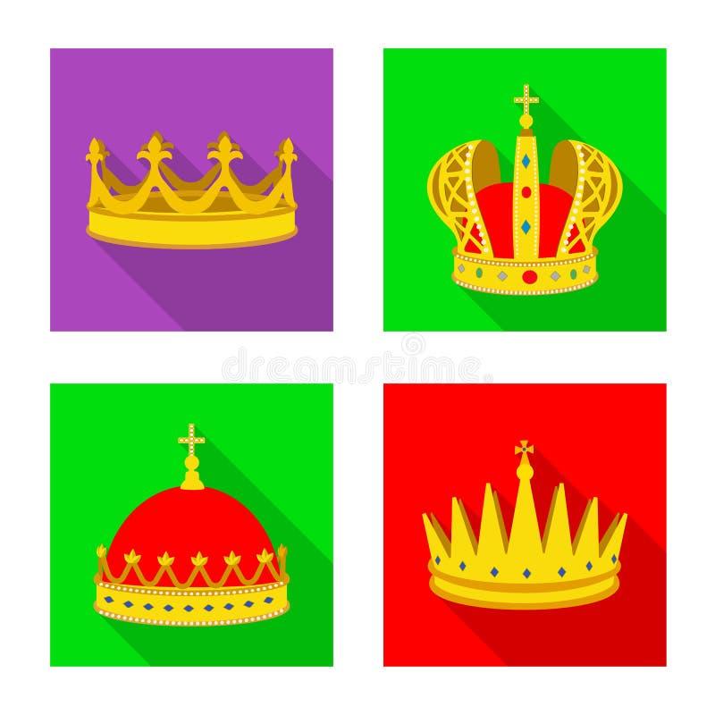 Ejemplo del vector del logotipo medieval y de la nobleza Fije del s?mbolo com?n medieval y de la monarqu?a para la web stock de ilustración