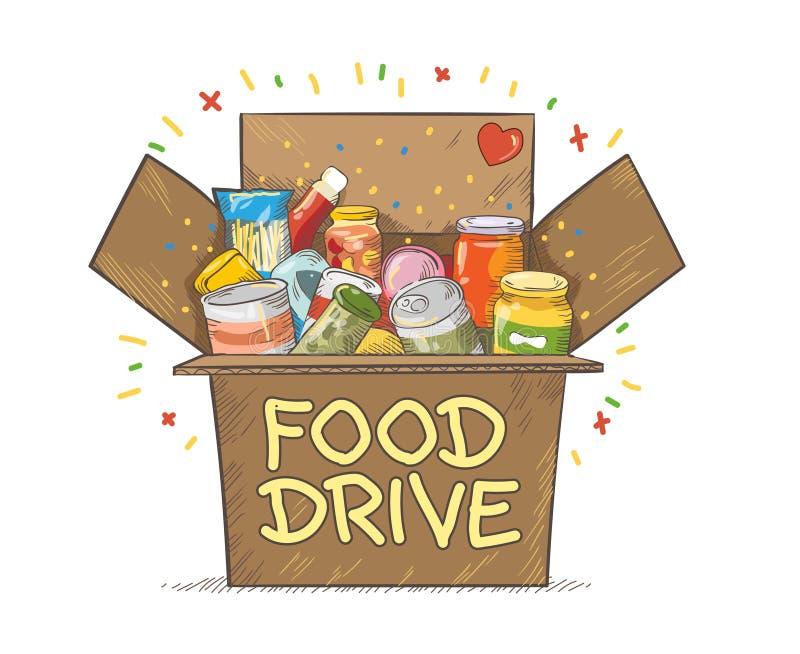 Ejemplo del vector del logotipo del movimiento de la caridad de la impulsión de la comida libre illustration