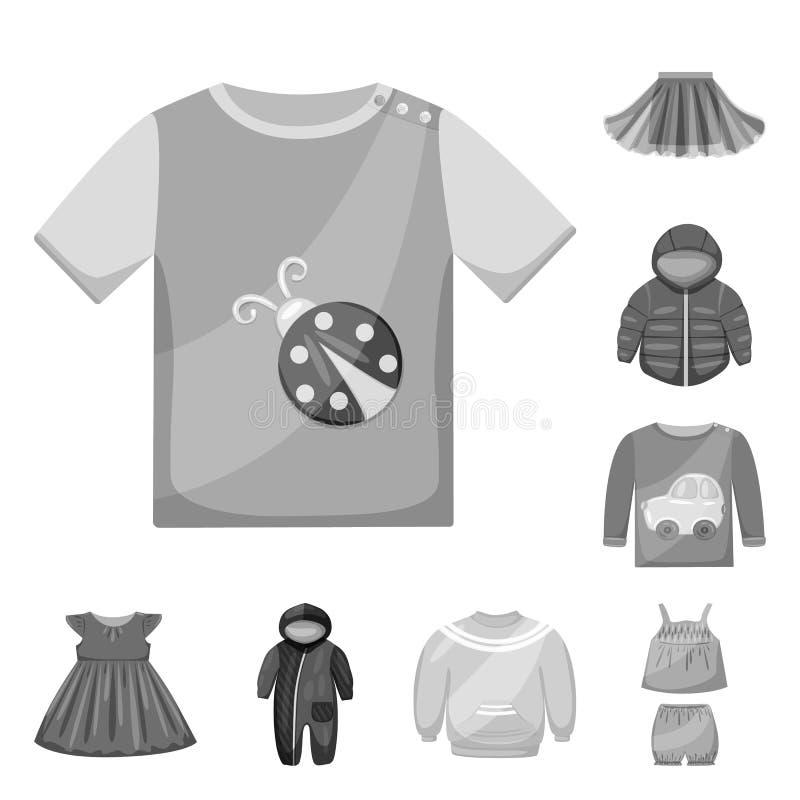 Ejemplo del vector del logotipo del paño y de la ropa Colección de ejemplo del vector de la acción del paño y de la ropa stock de ilustración