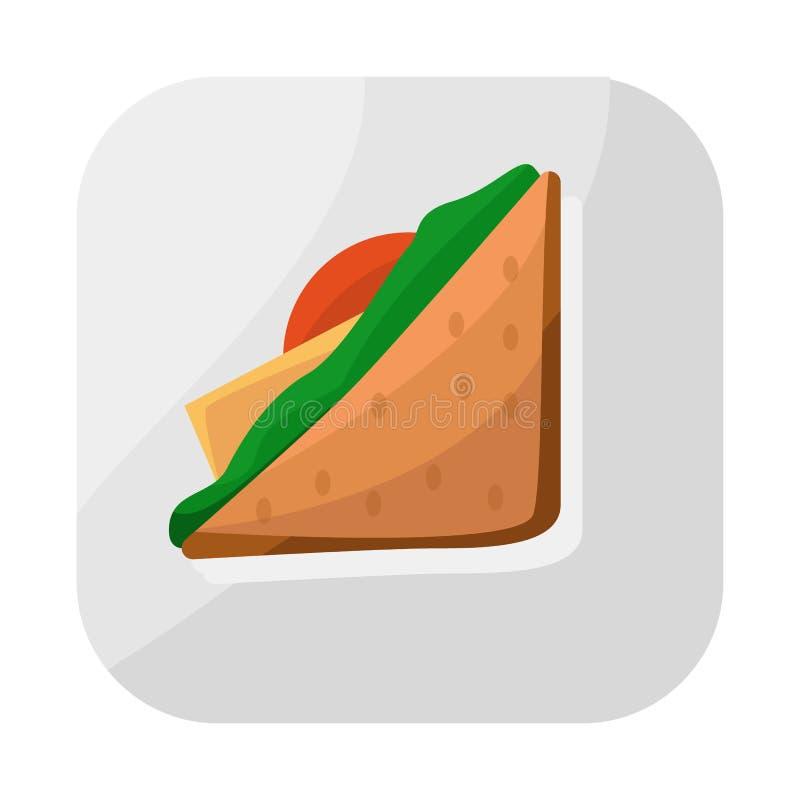 Ejemplo del vector del logotipo del paquete y de la comida Colección de ejemplo del vector de la acción del paquete y del bocado libre illustration