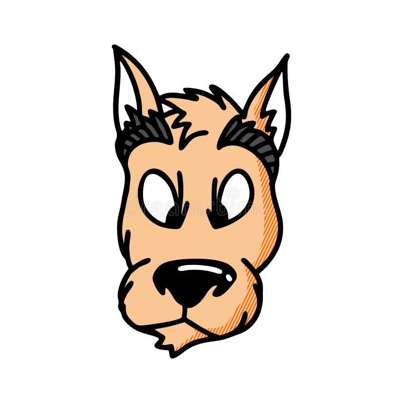 Ejemplo del vector del logotipo del perro del labrador retriever ilustración del vector