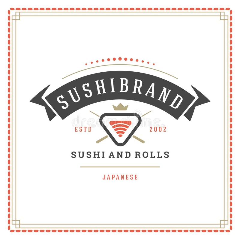 Ejemplo del vector del logotipo del restaurante de sushi libre illustration