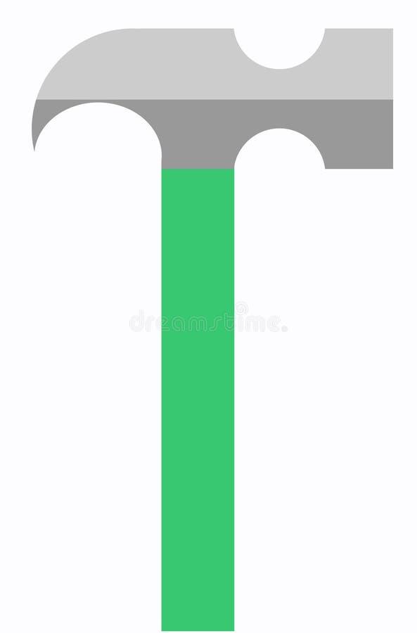 Ejemplo del vector del martillo fotografía de archivo