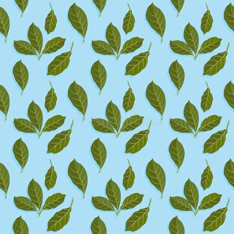 Ejemplo del vector del modelo de las hojas libre illustration