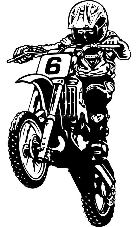 Ejemplo del vector del motocrós ilustración del vector