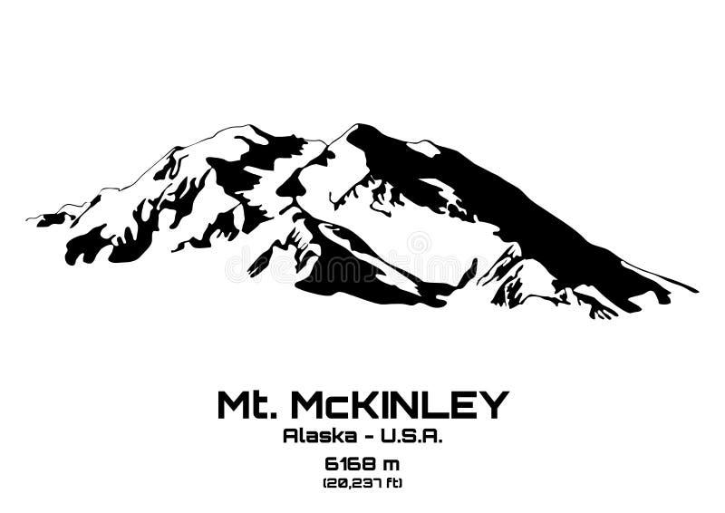 Ejemplo del vector del Mt McKinley ilustración del vector