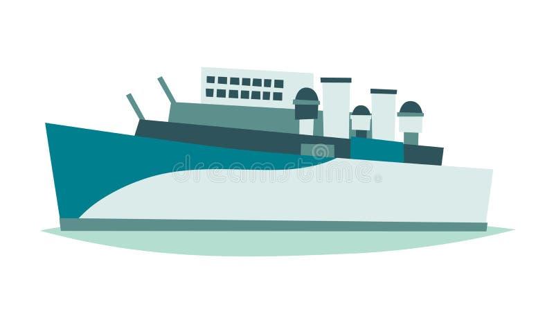 Ejemplo del vector del museo de Belfast Londres de la nave stock de ilustración