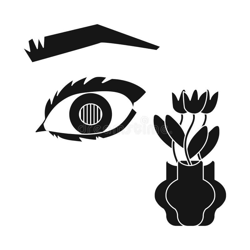 Ejemplo del vector del ojo y del icono pobre Fije de ojo y del icono del vector de la ceguera para la acción ilustración del vector