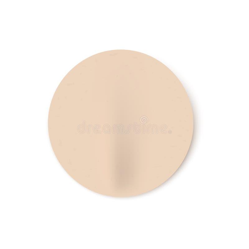 Ejemplo del vector del palillo redondo en blanco beige gravemente pegado en estilo realista stock de ilustración