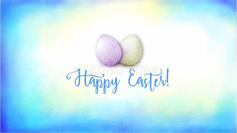 Ejemplo del vector para el día de fiesta feliz de Pascua libre illustration
