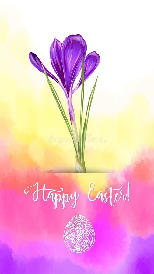 Ejemplo del vector para el día de fiesta feliz de Pascua stock de ilustración