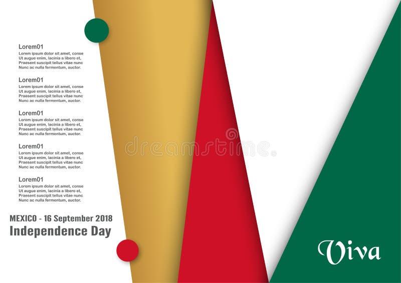 Ejemplo del vector para el Día de la Independencia de México el 16 de septiembre libre illustration