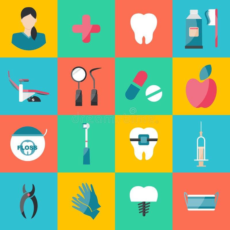 Ejemplo del vector para la odontolog?a y la ortodoncia ilustración del vector