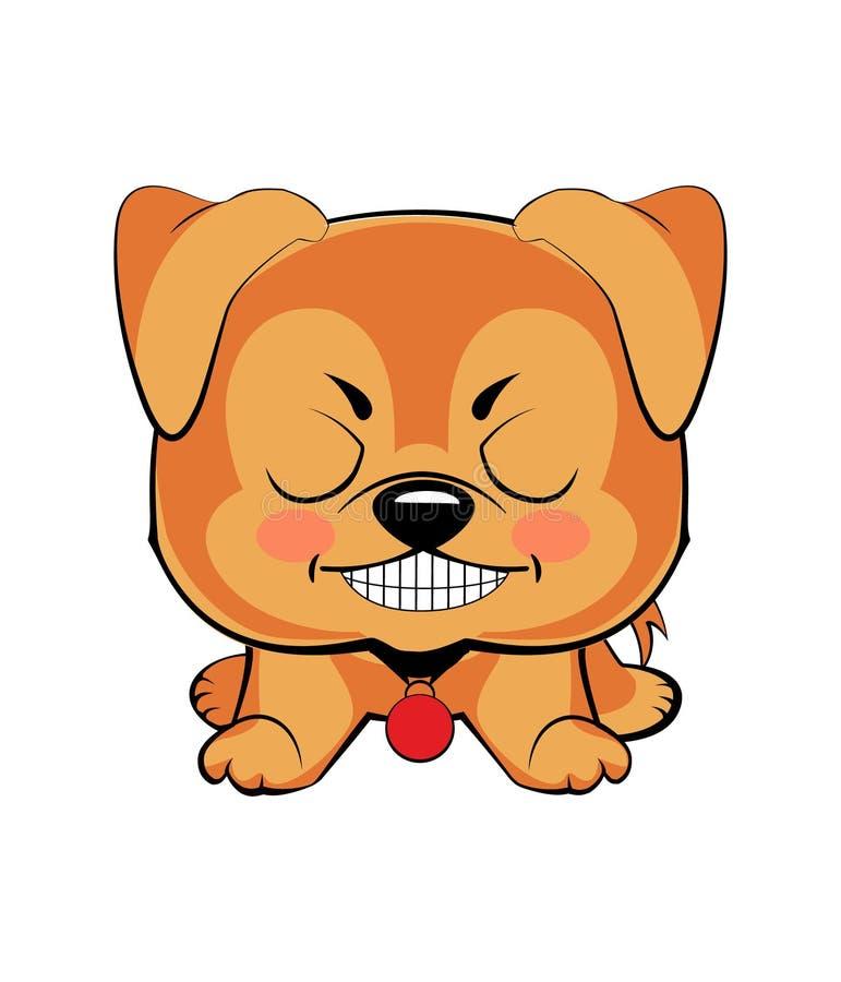 Ejemplo del vector del perrito enojado stock de ilustración