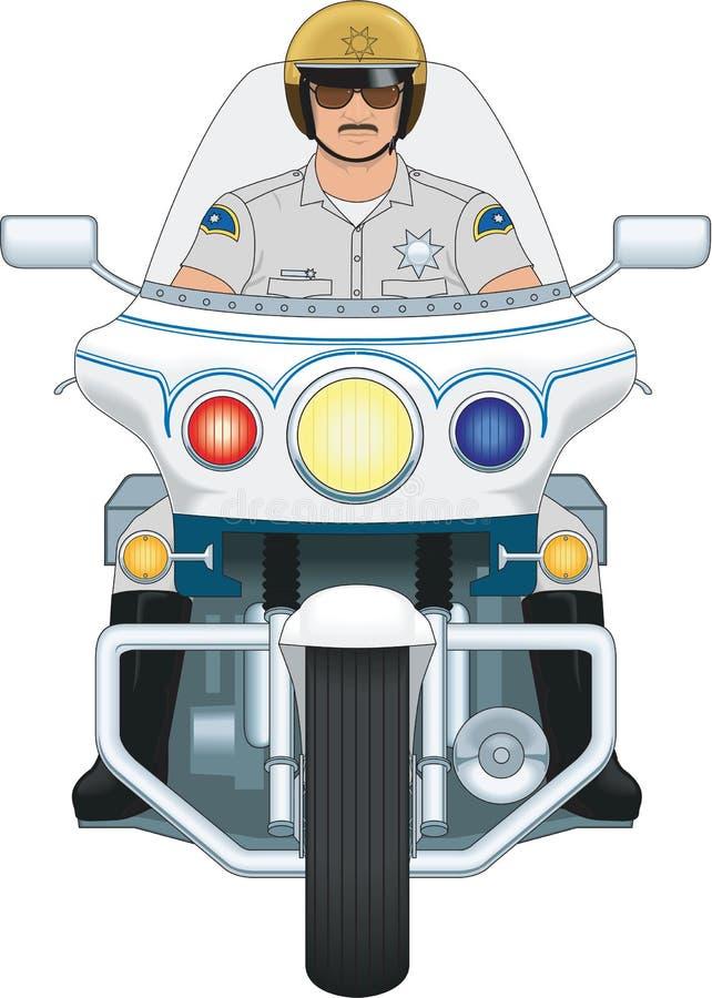 Ejemplo del vector del poli de motocicleta ilustración del vector