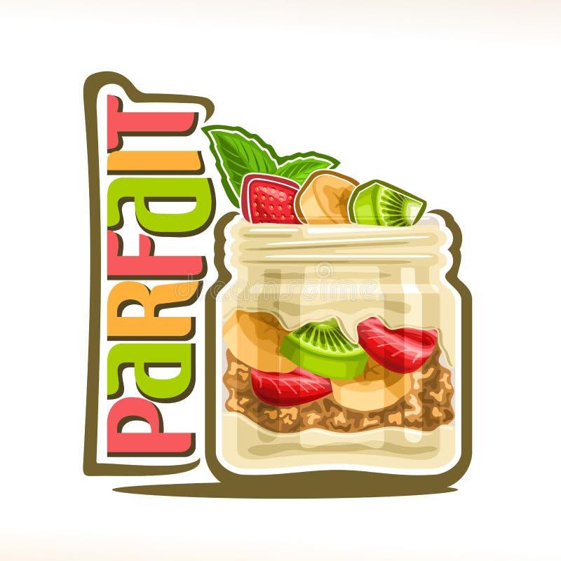 Ejemplo del vector del postre helado del granola libre illustration