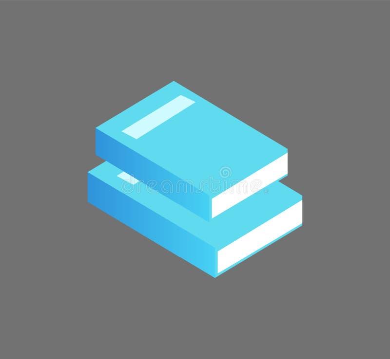Ejemplo del vector del primer de los iconos del sistema de información de los libros stock de ilustración