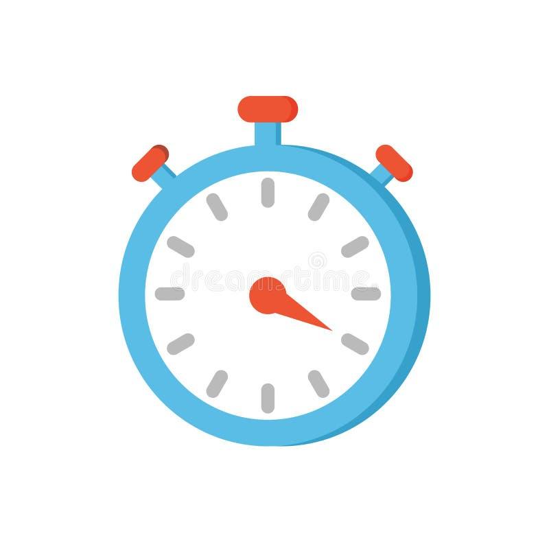 Ejemplo del vector del primer del icono del reloj del contador de tiempo ilustración del vector