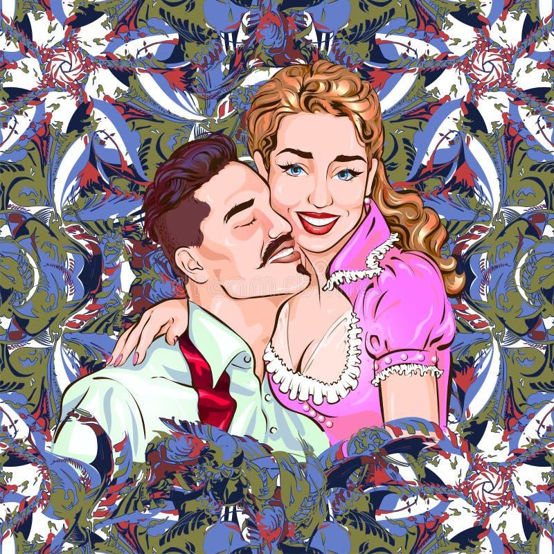 Ejemplo del vector que representa a un par de amantes ilustración del vector