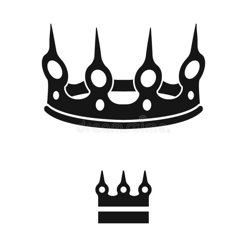 Ejemplo del vector del rey y del icono majestuoso Colecci?n de ejemplo del vector de la acci?n del rey y de oro libre illustration