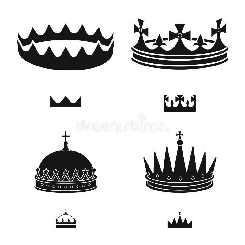 Ejemplo del vector del rey y del icono majestuoso Fije del s?mbolo com?n del rey y de oro para la web libre illustration