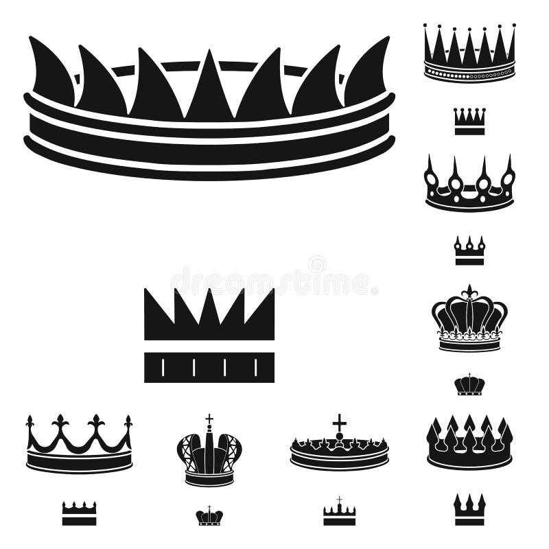 Ejemplo del vector del rey y del logotipo majestuoso Colecci?n de ejemplo del vector de la acci?n del rey y de oro stock de ilustración