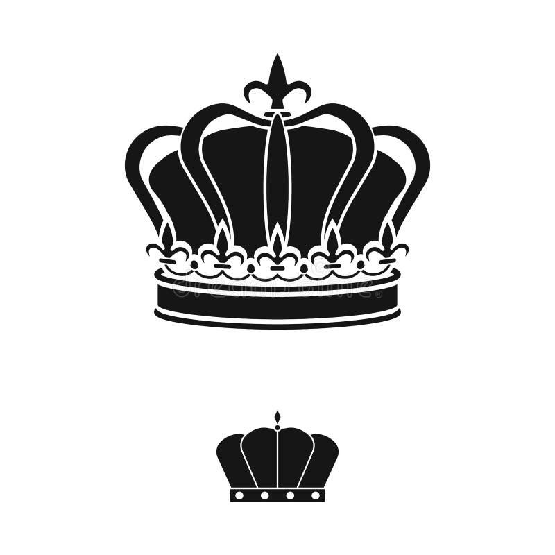 Ejemplo del vector del rey y del logotipo majestuoso Colecci?n de s?mbolo com?n del rey y de oro para la web stock de ilustración