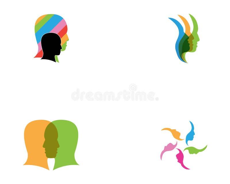 Ejemplo del vector del rostro humano libre illustration