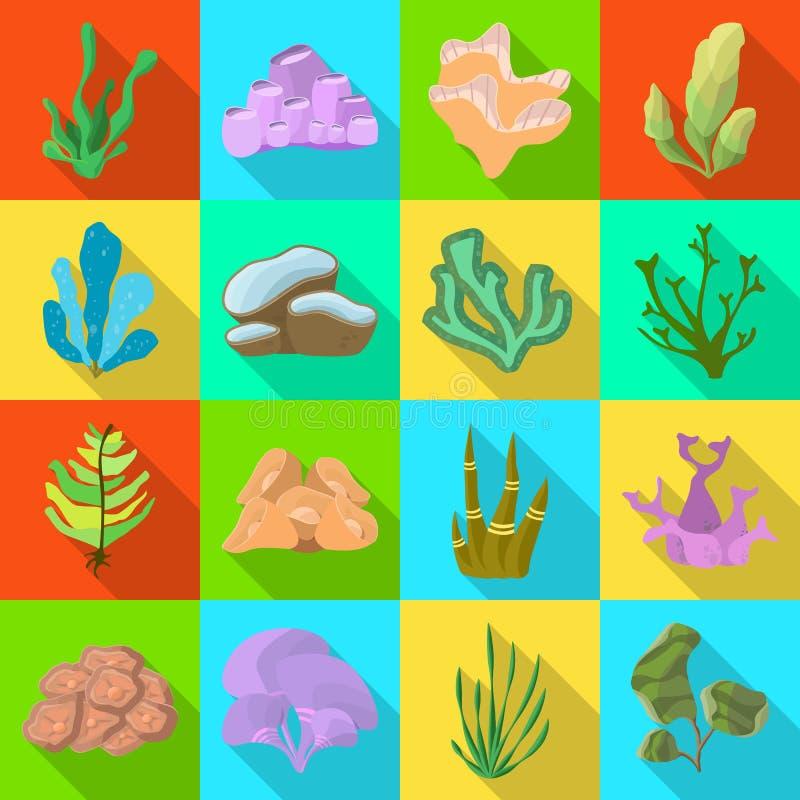 Ejemplo del vector del símbolo de la biodiversidad y de la naturaleza Colección de biodiversidad y de símbolo común de la fauna p ilustración del vector