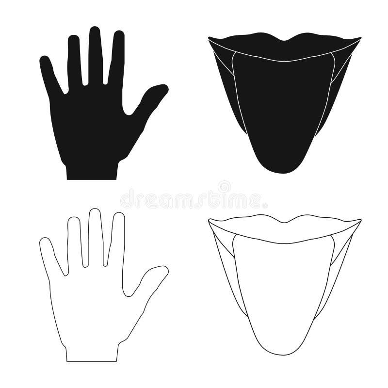 Ejemplo del vector del símbolo del ser humano y de la parte Colección de icono del vector del ser humano y de la mujer para la ac ilustración del vector