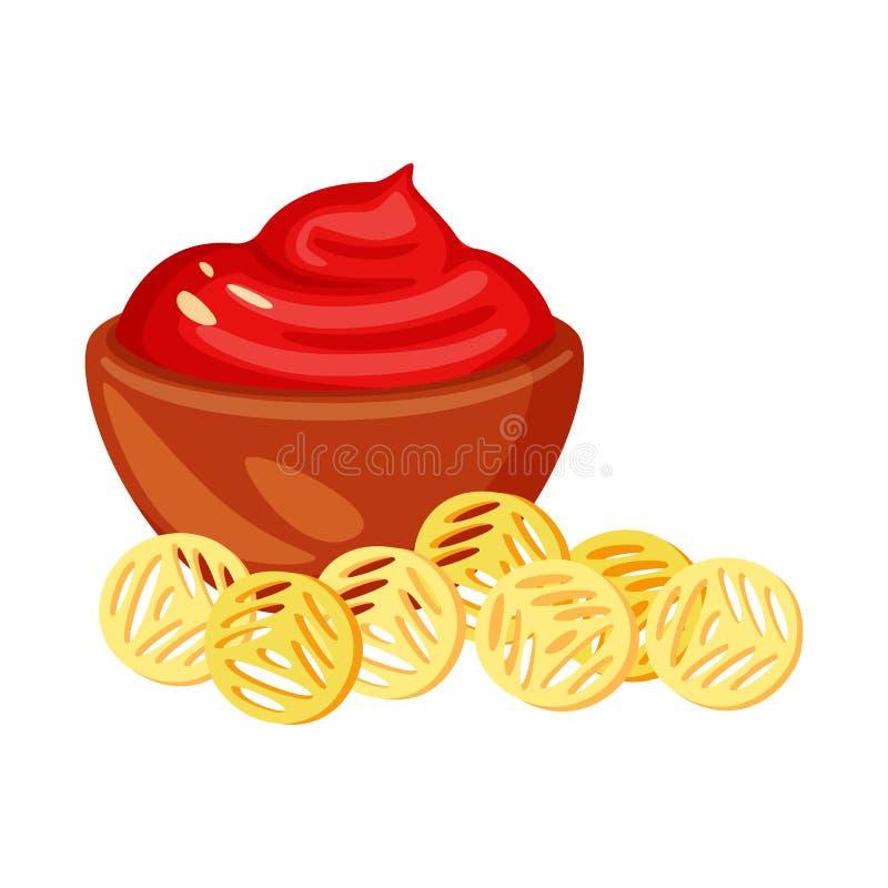 Ejemplo del vector del s?mbolo del bocado y de los cuscurrones Colecci?n de ejemplo com?n del vector del bocado y del pan libre illustration