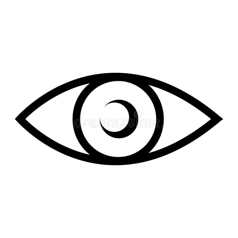 Ejemplo del vector del s?mbolo del icono del ojo stock de ilustración