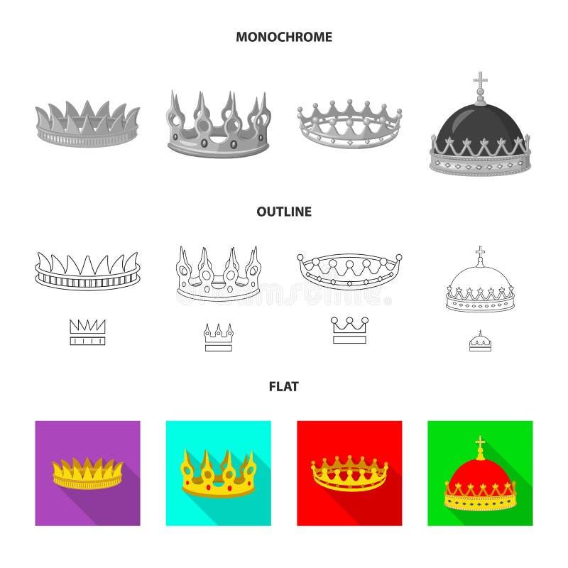 Ejemplo del vector del s?mbolo medieval y de la nobleza Colecci?n de s?mbolo com?n medieval y de la monarqu?a para la web ilustración del vector