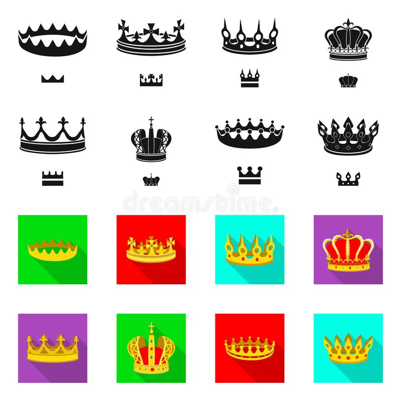 Ejemplo del vector del s?mbolo medieval y de la nobleza Colecci?n de s?mbolo com?n medieval y de la monarqu?a para la web libre illustration