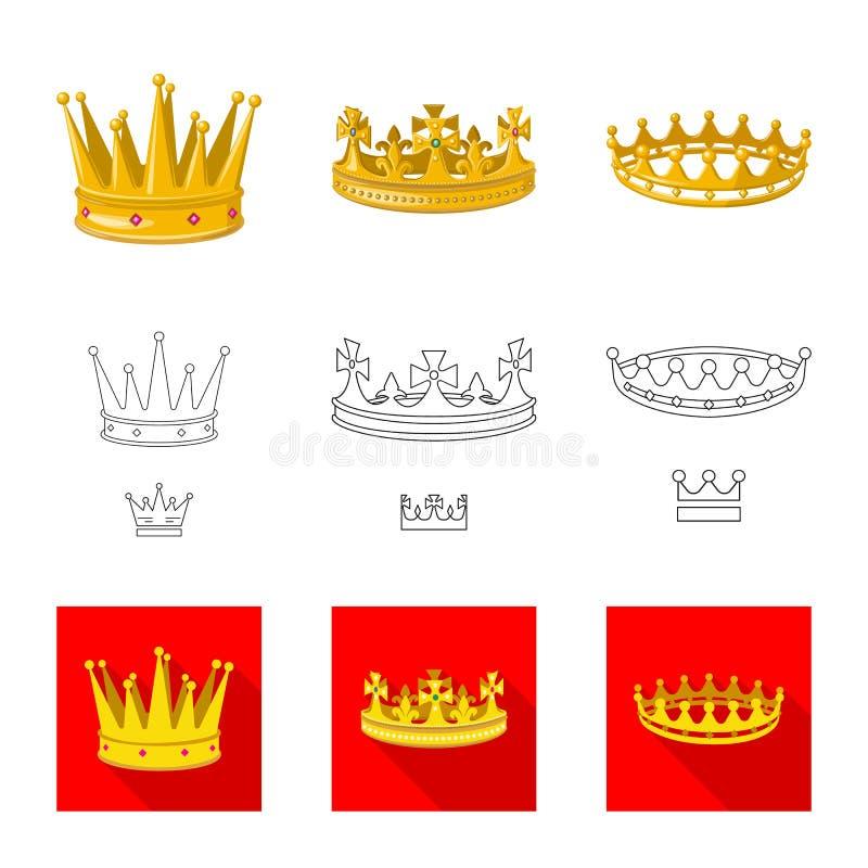 Ejemplo del vector del s?mbolo medieval y de la nobleza Colecci?n de s?mbolo com?n medieval y de la monarqu?a para la web stock de ilustración