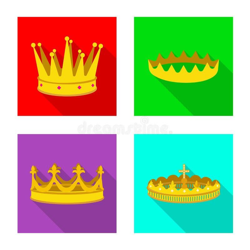 Ejemplo del vector del s?mbolo medieval y de la nobleza Colecci?n de icono medieval y de la monarqu?a del vector para la acci?n libre illustration