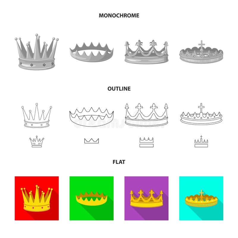 Ejemplo del vector del s?mbolo medieval y de la nobleza Fije del s?mbolo com?n medieval y de la monarqu?a para la web libre illustration