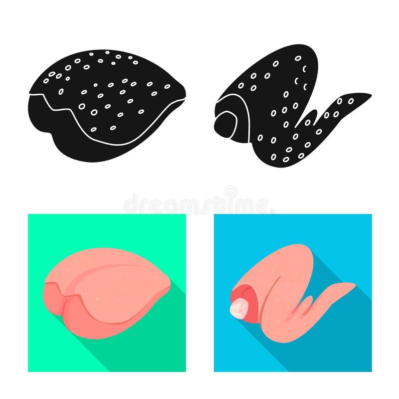 Ejemplo del vector del s?mbolo del producto y de las aves de corral Fije de producto y del ejemplo com?n del vector de la agricul libre illustration