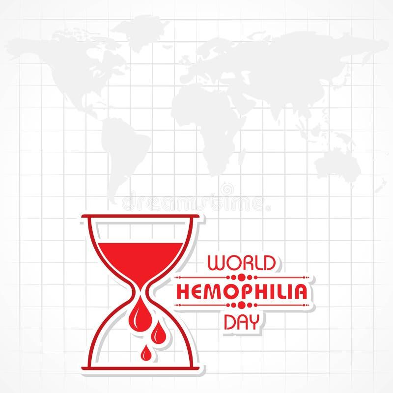 Ejemplo del vector del saludo del día de la hemofilia del mundo stock de ilustración