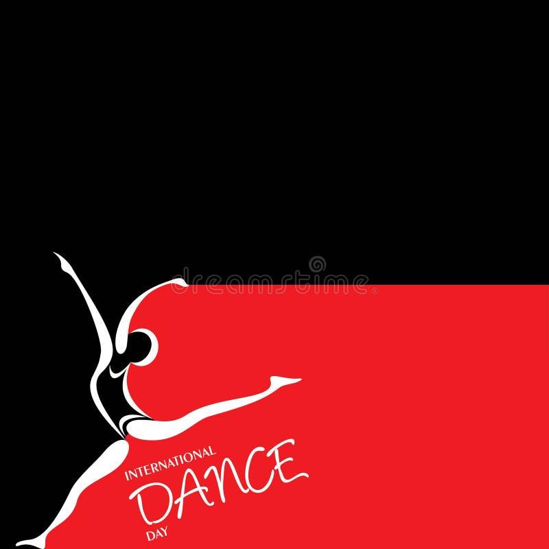 Ejemplo del vector del saludo internacional del día de la danza ilustración del vector