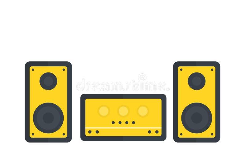 Ejemplo del vector del sistema audio ilustración del vector