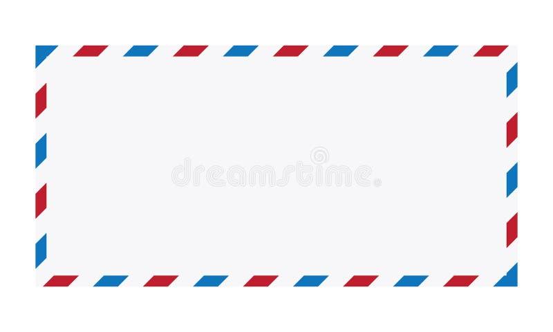 Ejemplo del vector del sobre del correo aéreo stock de ilustración